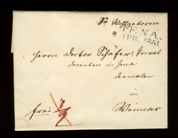 Jena 1851 Vorphila-/Altbeleg