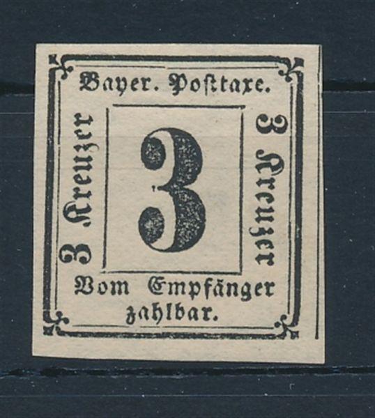 Bayern Porto Mi.Nr. 1 * ungebraucht tadellos