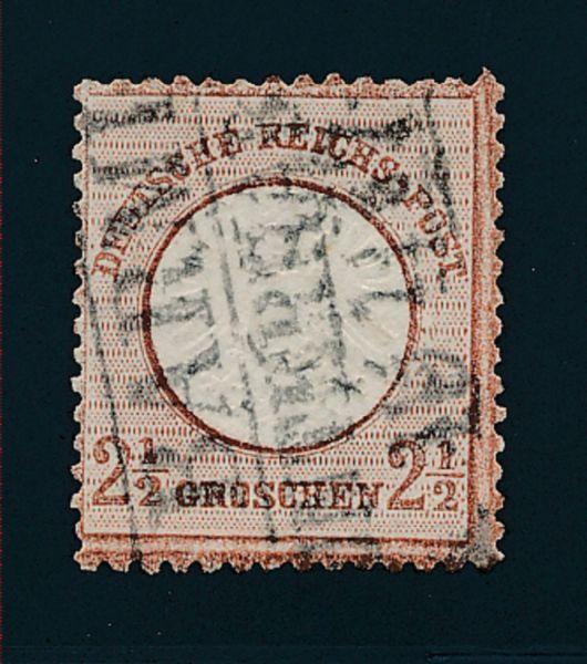 Deutsches Reich Mi.Nr.21b gestemp. Lux Fotoattest BPP