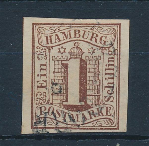Hamburg Mi.Nr.2 Stempel Bergedorf Luxus Fotoattest BPP