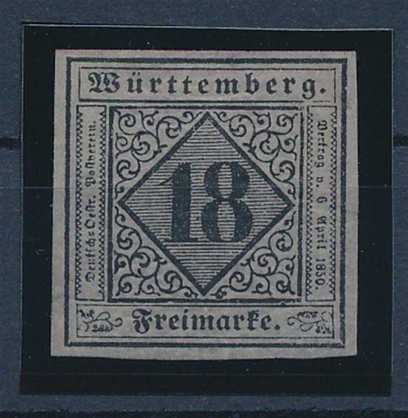 Württemberg Mi.Nr.5 * ungebr.Fotoattest BPP (2400.-)
