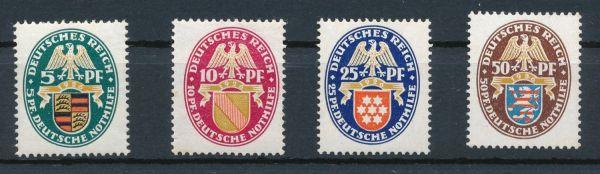 Deutsches Reich Mi.Nr.398-401 ** postfrisch