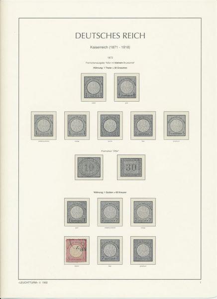 Deutsches Reich bis 1932 Sammlung mit vielen Spitzen