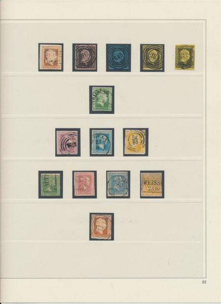 Preussen fast komplette Sammlung auf Vordruckblättern