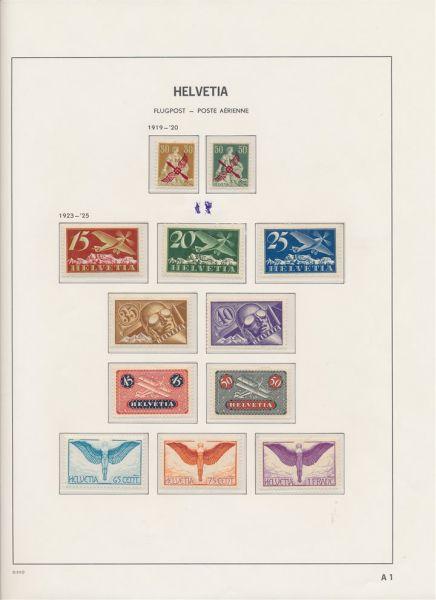 Schweiz 1907-1960 Tolle Sammlung */** mit Bl.1+5