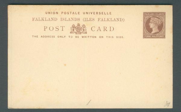 Falkland Inseln Interessante alte Ganzsache