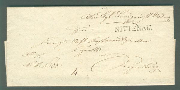 Nittenau L 1 Vorphila/Altbeleg 1837 mit Inhalt
