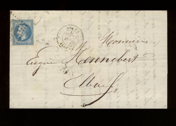 Algerien Interessanter Alt - Beleg 1869