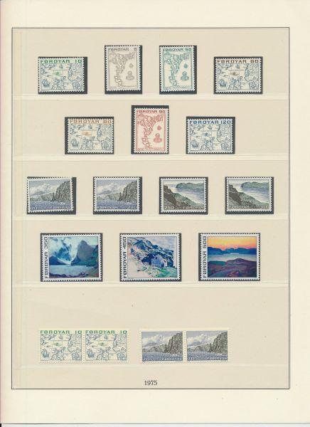 Färöer 1975-2000 Weitgehend komplette ** Sammlung