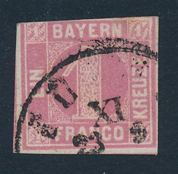Bayern Mi.Nr.3 II gestempelt Fotoattest BPP (2000.-)