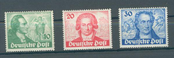 Berlin Mi.Nr.61-63 Goethe ** postfrisch