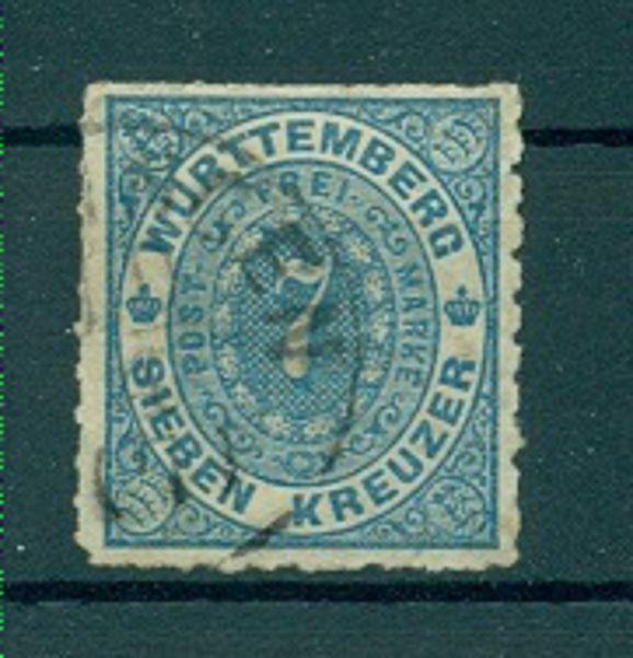 WÜRTTEMBERG Mi.Nr. 39 b gestempelt geprüft