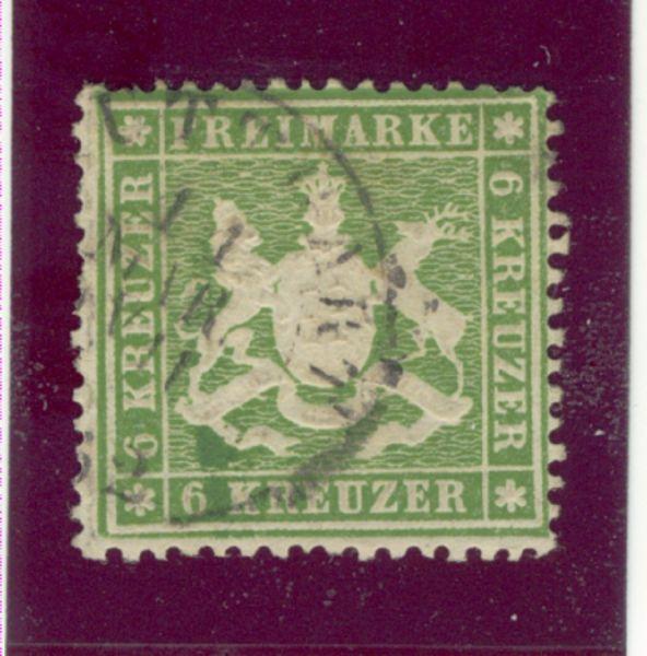 Württemberg Mi.Nr. 18ya gestempelt geprüft BPP