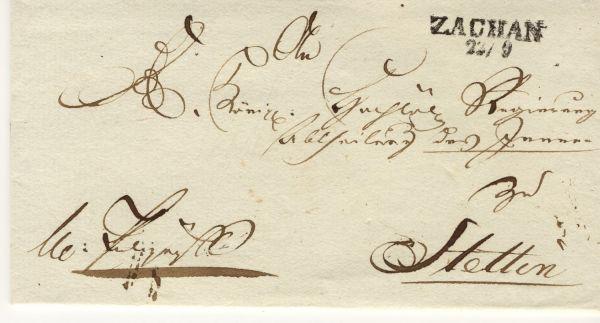 Zachan Pommern Vorphila-/Altbeleg