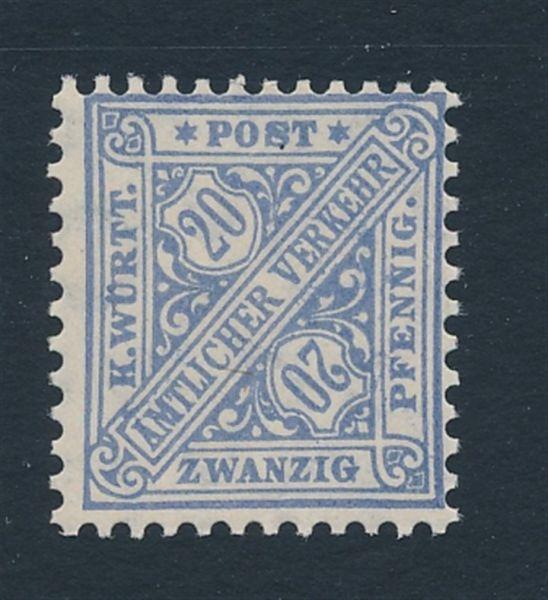 Württemberg Mi.Nr.231aa ** Luxus Fotoattest BPP