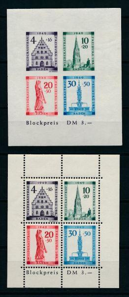 Baden Block 1 A und B ** postfrisch geprüft