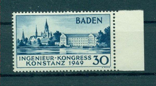 Franz.Zone Baden Mi.Nr. 46 II ** geprüft
