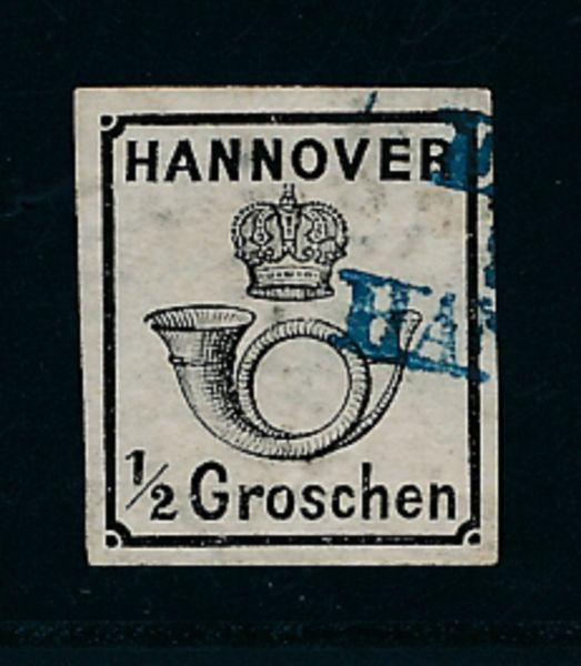Hannover Mi.Nr.17y gestempelt Lux Fotobefund BPP