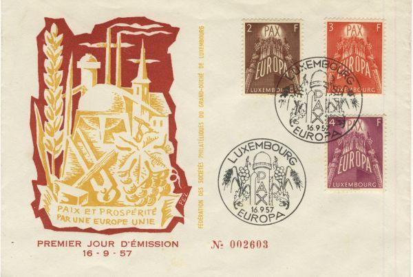 Luxemburg FDC 572-74