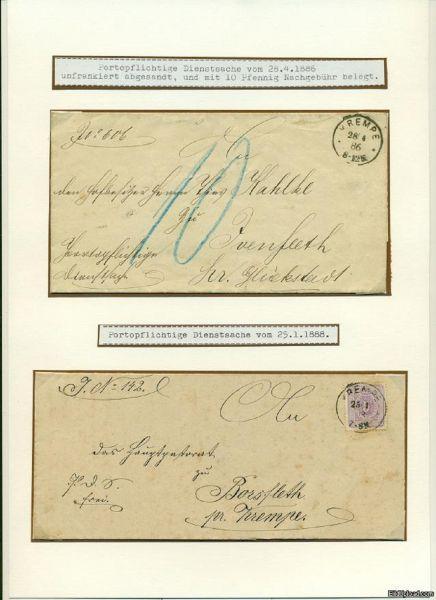 KREMPE Stempel auf 2 Briefen Deutsches Reich