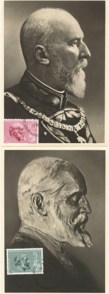 Liechtenstein Mi.Nr.415-17 Alte Maximumkarten