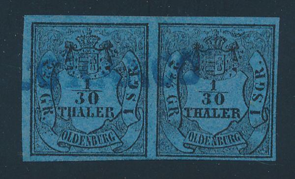 Oldenburg Mi.Nr.2 I+III Typenpaar o Lux Fotobefund BPP
