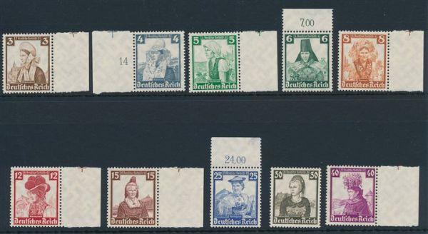Deutsches Reich Mi.Nr.588-97 ** postfrisch (180.-Euro)