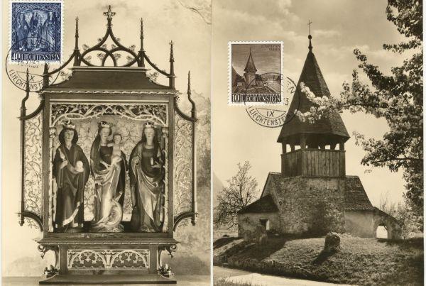 Liechtenstein Mi.Nr.362-64 Alte Maximumkarten