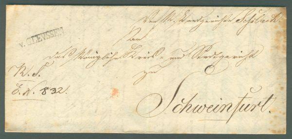 Gleussen L 1 v.Glevssen Vorphila v.1839 mit Inhalt