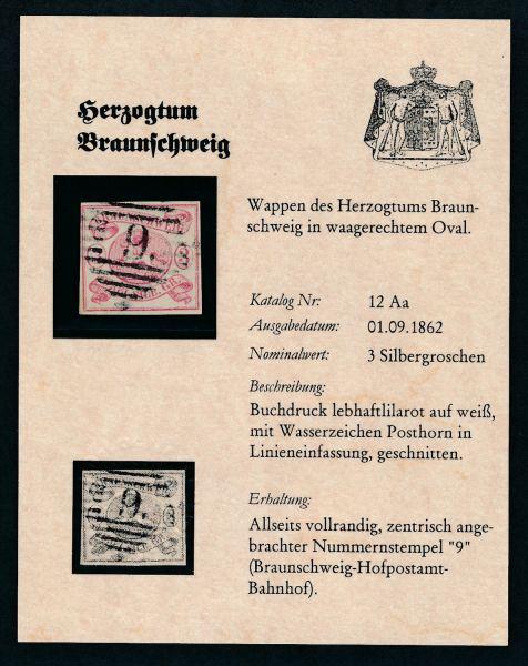 Braunschweig Mi.Nr.12 Aa gestempelt aus DPS ABO