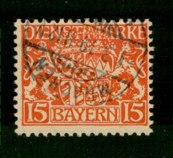 Bayern Dienst Mi.Nr.27 w gestempelt geprüft