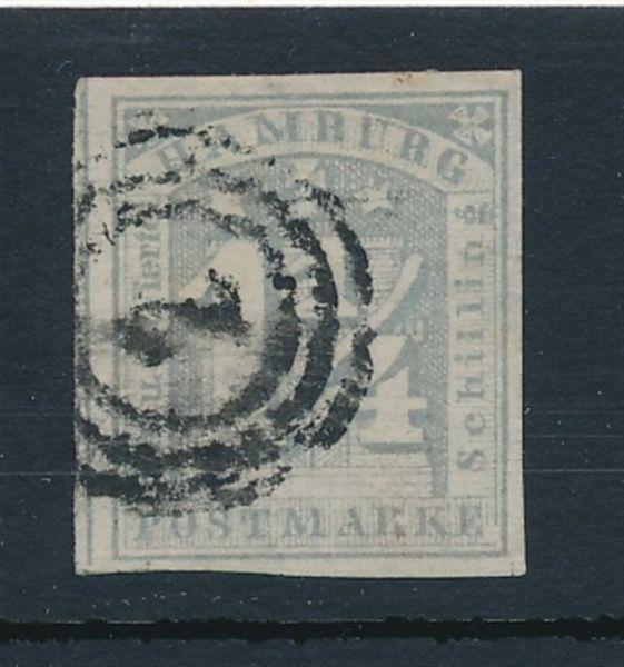 Hamburg Mi.Nr.8 c gestempelt Luxus Fotobefund BPP