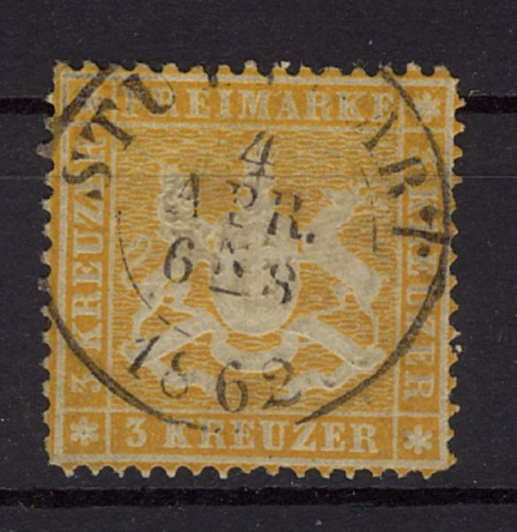 Württemberg Reich Mi.Nr.17ya gestempelt