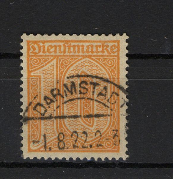 Deutsches Reich Dienst Mi.Nr. 65 gestempelt geprüft