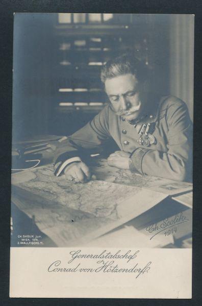 Conrad von Hötzendorf Fotokarte