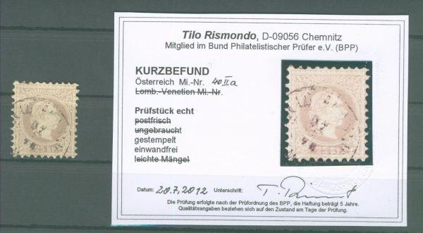 Österreich Mi.Nr.40 II a gestempelt Lux Fotobefund BPP