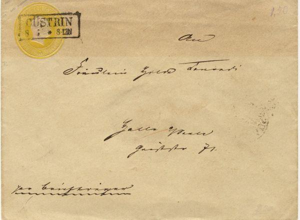 Cüstrin auf Preussen Umschlag