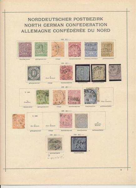 Norddeutscher Postbezirk Interessante Sammlung