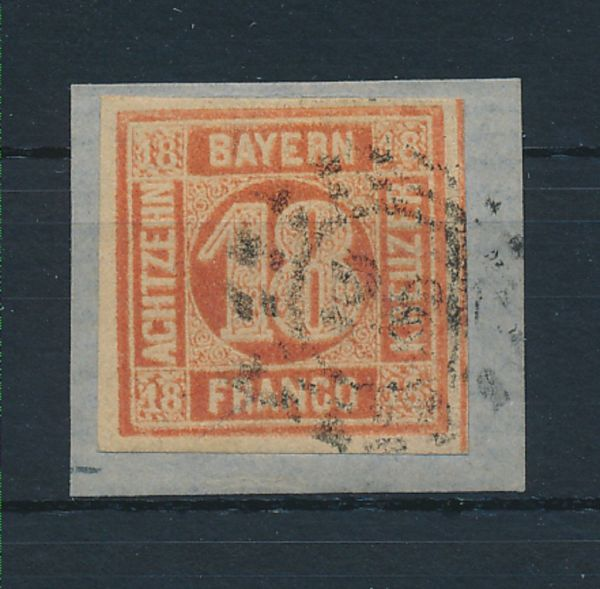 Bayern Mi.Nr.13 b gestempelt Luxus Fotobefund BPP