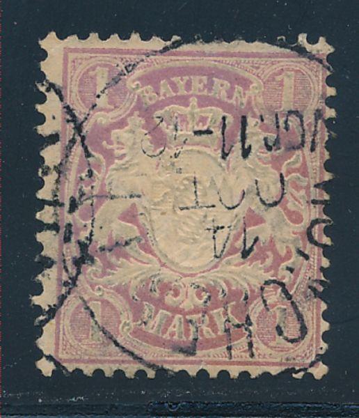 Bayern Mi.Nr.53 X b gestempelt geprüft