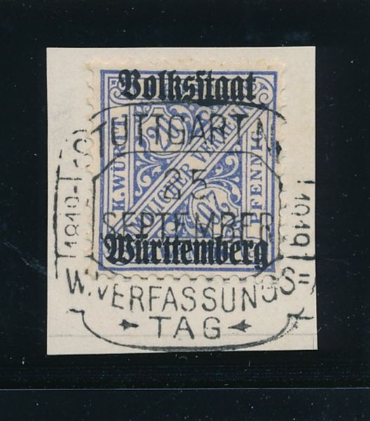 Württemberg Mi.Nr.264 d gestempelt LuxusFotoattest BPP