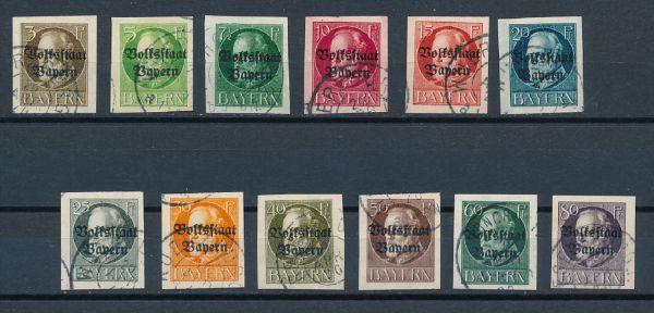 Bayern Mi.Nr.116-127 II B gestempelt