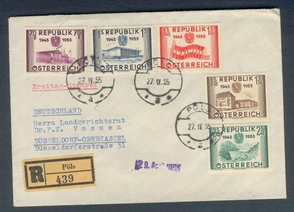 Österreich Interessanter Altbeleg FDC 1955