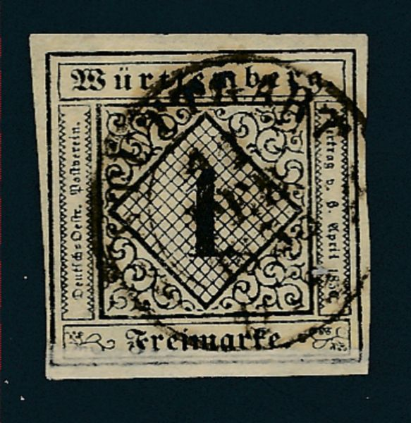 Württemberg Mi.Nr.1 gestempelt