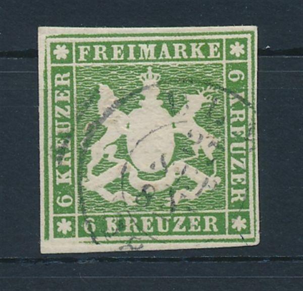 Württemberg Mi.Nr.13 b gestempelt Luxus Fotobefund BPP