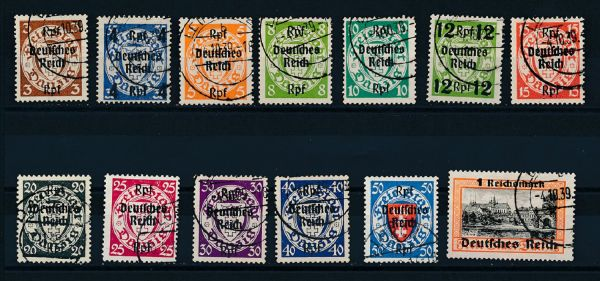 Deutsches Reich Mi.Nr.716-28 gestempelt