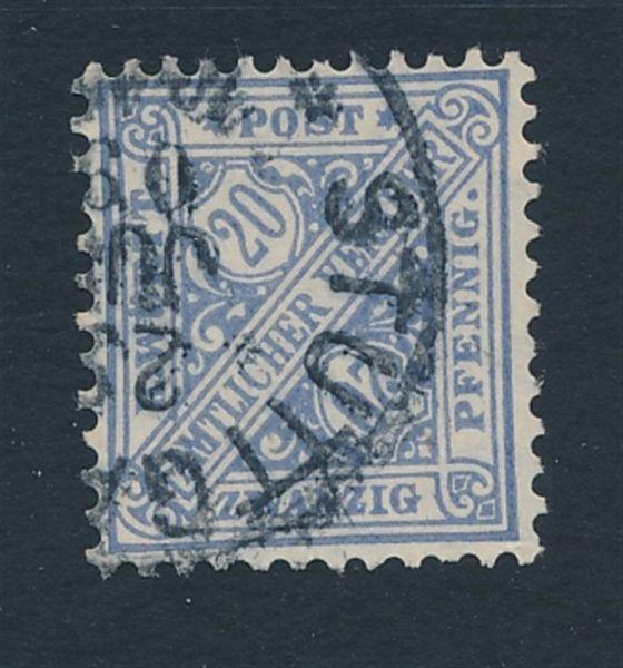 Württemberg Mi.Nr.231 aa gestempelt Lux Fotoattest BPP