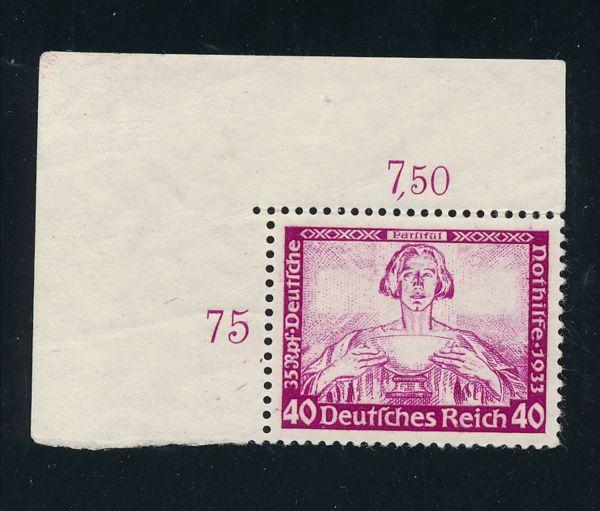 Deutsches Reich Mi.Nr.507 Ecke ** Luxus Fotoattest BPP