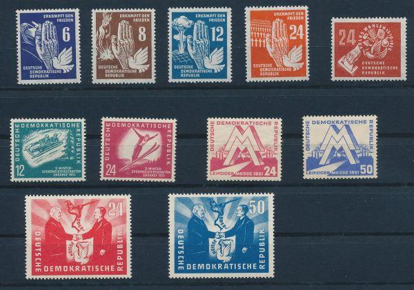 DDR Mi.Nr.275-285 ** postfrisch (MIchel 128.-Euro)