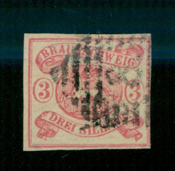 Braunschweig Mi.Nr.12Ab gestempelt geprüft